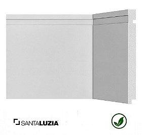Rodapé Santa Luzia poliestireno 505 branco Moderna 20cm x 16mm x 2,40m