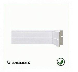 (LOTE PROMOCIONAL) FDL Rodapé Santa Luzia poliestireno 511 branco Moderna 7cm x 16mm x 2,40m