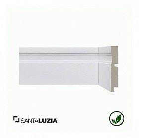 Rodapé Santa Luzia poliestireno 514 branco Moderna 10cm x 16mm x 2,40m