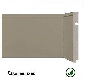 Rodapé Santa Luzia poliestireno 518 Cinza Titanium Inova uber 15cm x 16mm x 2,40m