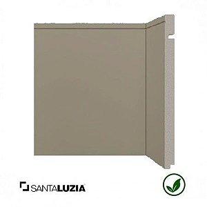 Rodapé Santa Luzia poliestireno 520 Cinza Titanium Inova uber 25cm x 16mm x 2,40m