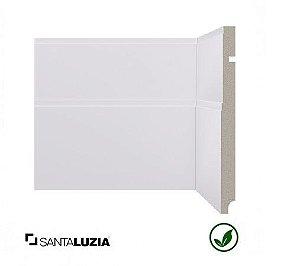 Rodapé Santa Luzia poliestireno 544 branco Art deco 20cm x 16mm x 2,40m
