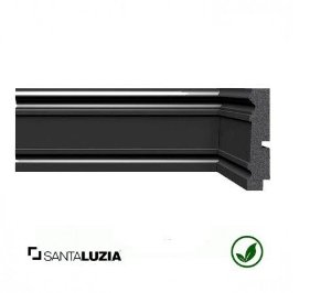 Rodapé Santa Luzia poliestireno 3444 preto Black 9,6cm x 20mm x 2,40m
