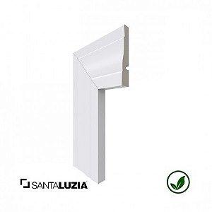 Guarnição Santa Luzia poliestireno 443 branco Clássica 8,9cm x 17mm x 2,40m