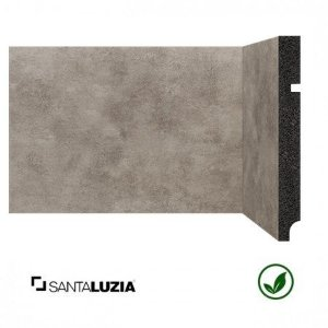 Rodapé Santa Luzia poliestireno 3496 Prata Coleção Óxi 15cm x 16mm x 2,40m