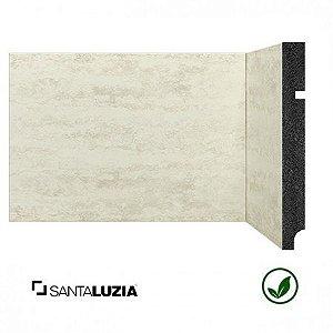 Rodapé Santa Luzia poliestireno 3496 Travertino Branco Coleção Pedras 15cm x 16mm x 2,40m