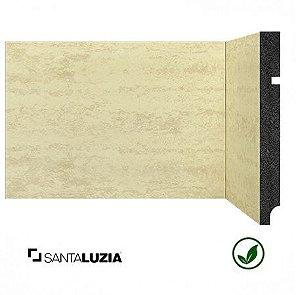 Rodapé Santa Luzia poliestireno 3496 Travertino Bege Coleção Pedras 15cm x 16mm x 2,40m