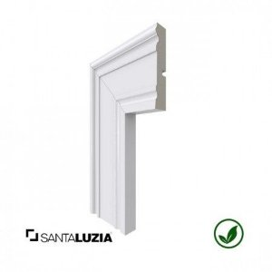 Guarnição Santa Luzia poliestireno 444 branco Clássica 9,6cm x 20mm x 2,40m