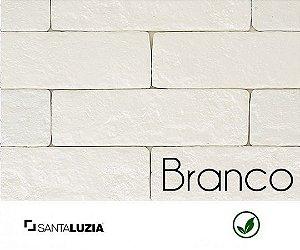 Revestimento de parede Ecobrick Santa Luzia Branco grande - 7,5cmx27cmx9mm