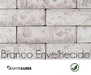 Revestimento de parede Ecobrick Santa Luzia Branco Envelhecido grande - 7,5cmx27cmx9mm