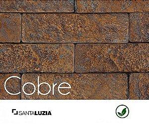 Revestimento de parede Ecobrick Santa Luzia Cobre grande - 7,5cmx27cmx9mm