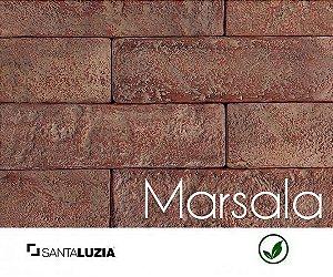 Revestimento de parede Ecobrick Santa Luzia Marsala grande - 7,5cmx27cmx9mm