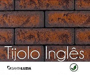 Revestimento de parede Ecobrick Santa Luzia Tijolo Inglês grande - 7,5cmx27cmx9mm