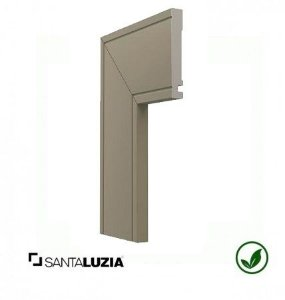 Guarnição Santa Luzia poliestireno 517 Cinza Titanium Inova uber 10cm x 16mm x 2,40m