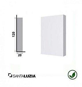Sócalo 178 Santa Luzia poliestireno branco Clássica 12cm x 8cm x 20mm