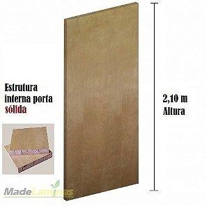Porta lisa SÓLIDA para verniz ou pintura padrão Curupixá 2,10 altura