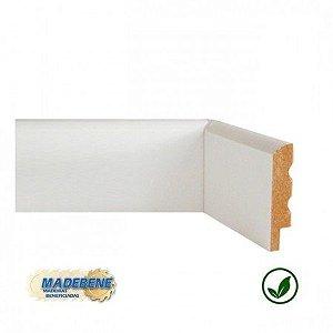 Rodapé em MDF Laminado Liso Boleado branco Madebene 7cm x 15mm x 2,10m