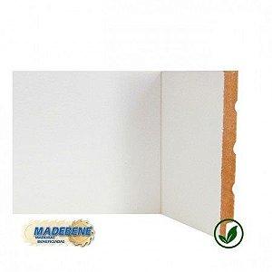 Rodapé em MDF Laminado Liso Reto/Quina Viva branco Madebene 20cm x 15mm x 2,10m