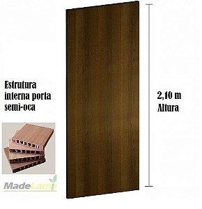 Porta lisa semi-OCA para verniz ou pintura padrão Ipê Champanhe  2,10 altura