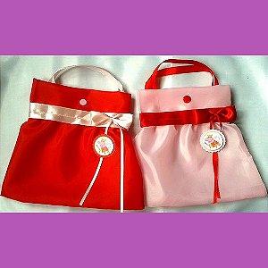 Sacolinha Peppa Pig - Rosa e Vermelha