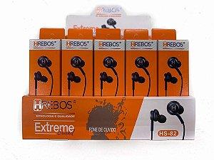 Fone Ouvido Stereo Com Microfone Hrebos Hs-82 Extreme Sound