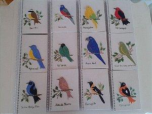 Cadernetas Pássaros