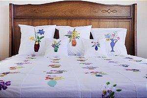Colcha Casal Vaso das Artesãs