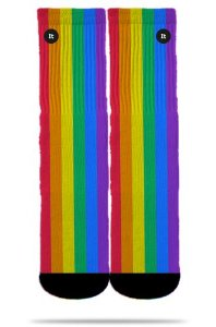 Arco-íris Listrado Colorido - Meias ItSox