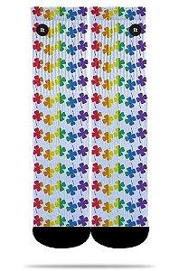 Arco-íris Trevo da Sorte - Meias ItSox