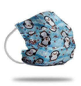 PINGUIM Infantil - Máscara de Tecido