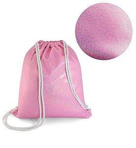 Mochila Para sublimação Glitter Rosa