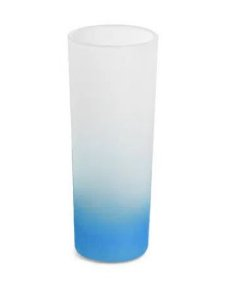 Copo de Vidro Mini Drink Jateado Degrade Azul - 90ml