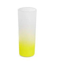 Copo de Vidro Mini Drink Jateado Degrade Amarelo - 90ml