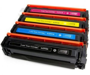 Kit 4 Toner Compatível HP CF510A CF511A CF512A CF513A 204A M154A M154NW M181FW M180NW