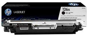 Toner Original HP CP1025 CP 1025 CE310 CE310A HP 126A - Cartucho Original CE310AB - Preto