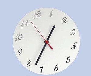 Relógio MDF Redondo 20Cm Com Número 3mm