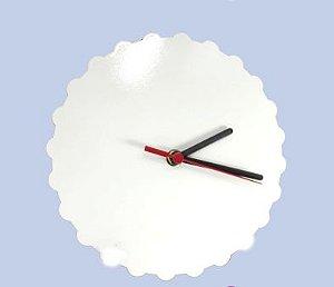 Relógio MDF Engrenagem Redondo 20Cm Sem Número 6mm