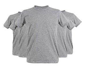 Camiseta Poliéster Cinza Mescla - Metalnox