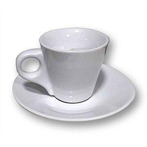 Xícara De Café Cerâmica Cônica Branca 88ml Resinada Para Sublimação Com Pires (live)