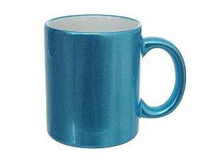 Caneca Cerâmica Perolizada Azul para Sublimação - 1un