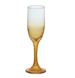 Taça De Espumante Ambar Dourada - 1un