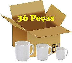 36 Caneca Branca de Polímero 325 ml Marca S