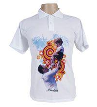 Camisa Polo Poliéster - Masculina