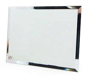 Porta Retrato de Vidro Espelhado para Sublimação 23x18cm