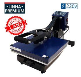Prensa Térmica Plana (Base 38x38) Magnética com Gaveta Premium - 220v