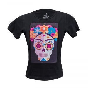 Camiseta  Algodão Preta - Feminina