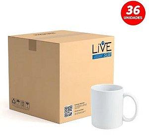 Caneca para Sublimação de Cerâmica Branca Classe AAA - Live Premium 36 Unidade (Caixa)