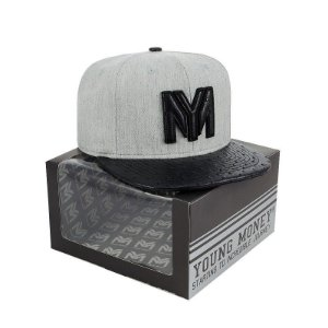 BONE ABA RETA YOUNG MONEY SNAPBACK AVESTRUZ BLACK