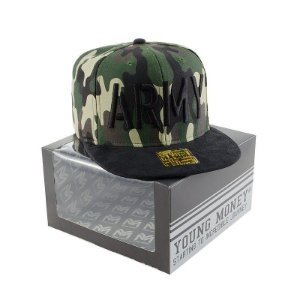 BONE ABA RETA YOUNG MONEY SNAPBACK CAMUFLADO 3D ARMY