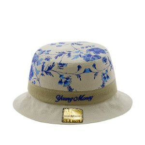 CHAPEU YOUNG MONEY BUCKET HAT FLORAL BLUE